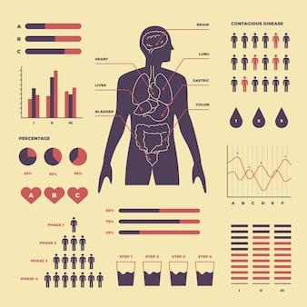 Concetto di infografica medica