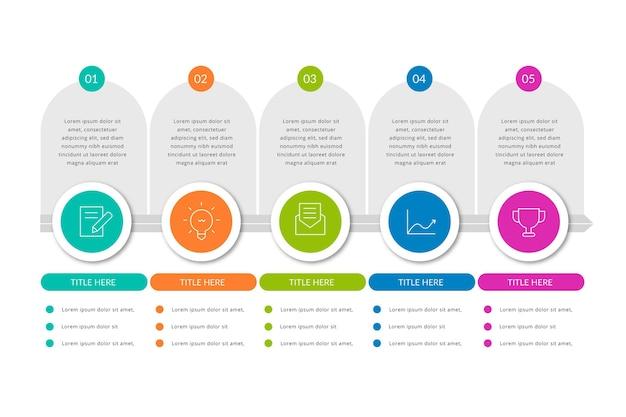 Concetto di infografica processo piatto