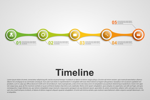 Concetto di infografica timeline.