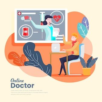 Concetto di innovazione medico online