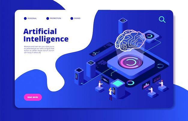 Concetto di intelligenza artificiale.
