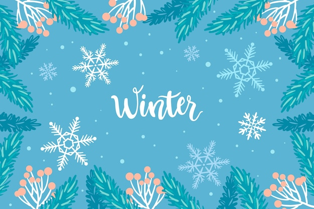 Concetto di inverno in mano disegnato