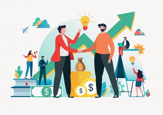Concetto di investimenti finanziari
