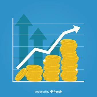 Concetto di investimento di rupia indiana