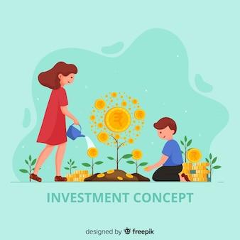 Concetto di investimento rupia indiana