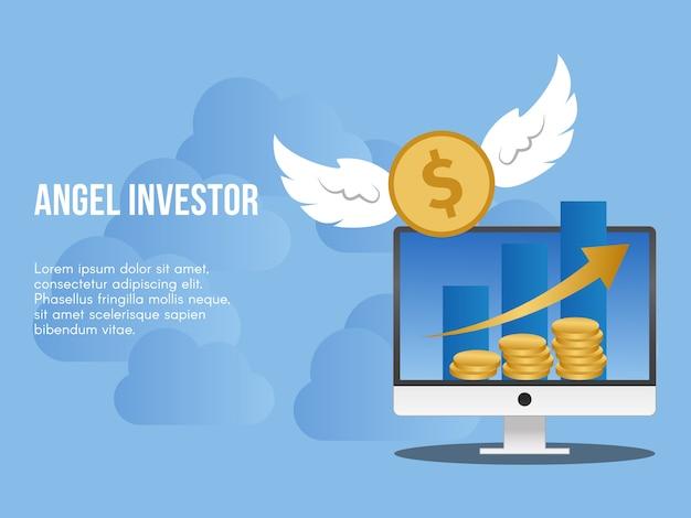Concetto di investitore di angelo