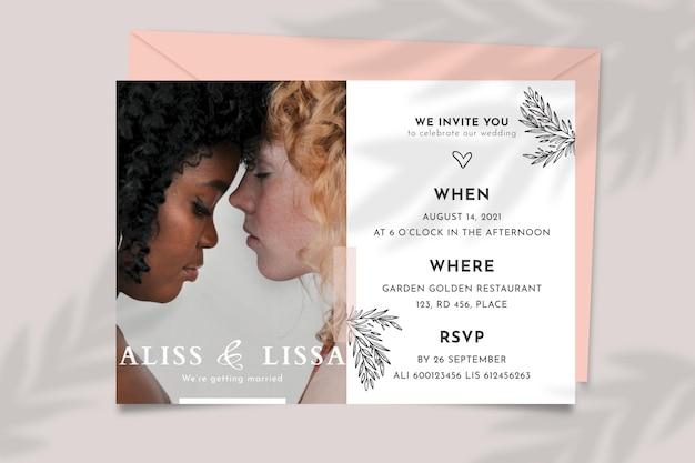 Concetto di invito a nozze