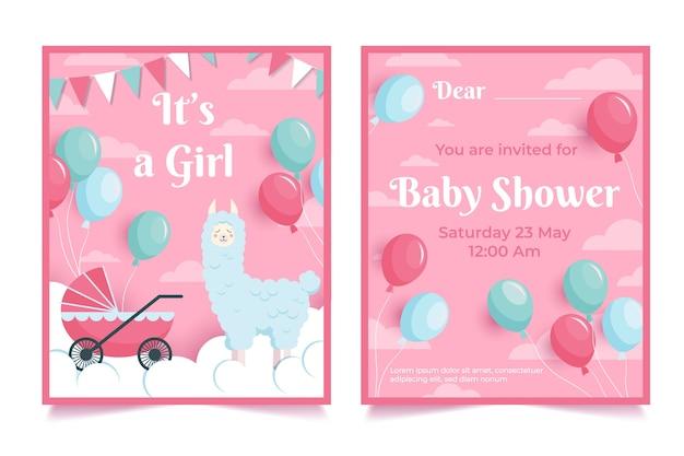 Concetto di invito baby doccia