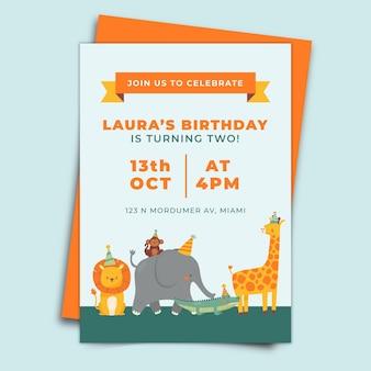 Concetto di invito di compleanno