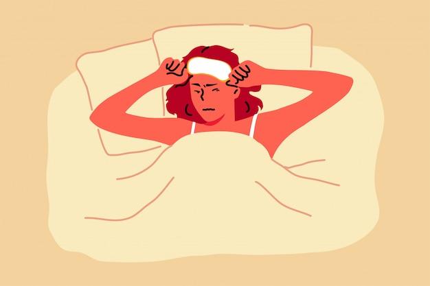 Concetto di irritazione, mattina, rumore, salute, ricreazione