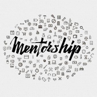 Concetto di iscrizione di mentoring