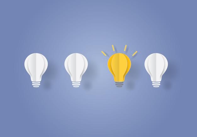 Concetto di ispirazione di affari della lampadina
