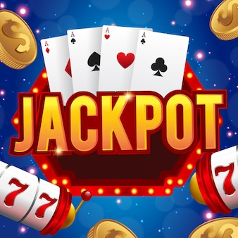Concetto di jackpot di lucky sevens della slot machine 777