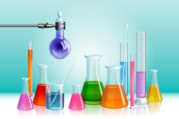 Concetto di laboratorio scientifico realistico