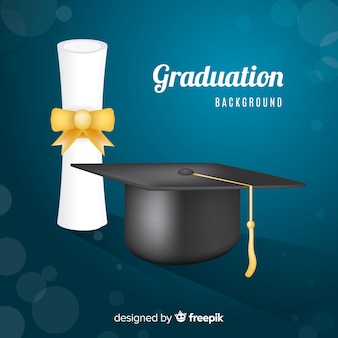 Concetto di laurea classico con un design realistico