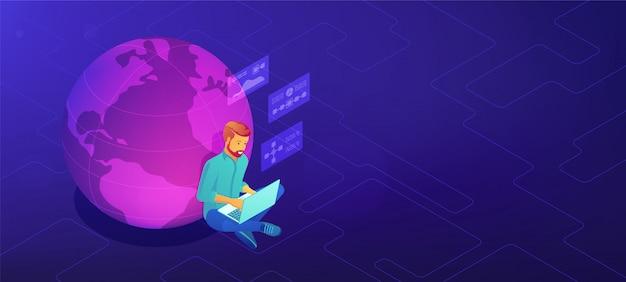 Concetto di lavoro dell'analista di big data