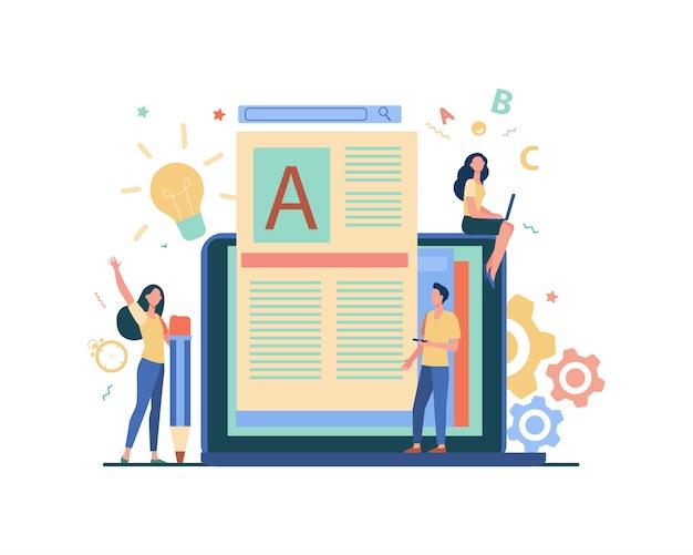 Concetto di lavoro di autore o scrittore di contenuti
