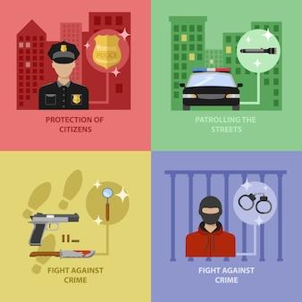 Concetto di lavoro di polizia