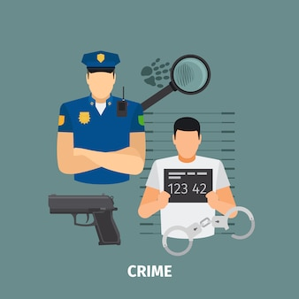 Concetto di legge con il crimine