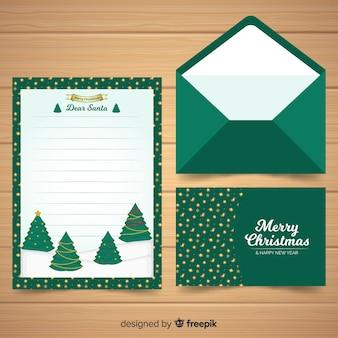 Concetto di lettera e busta di natale