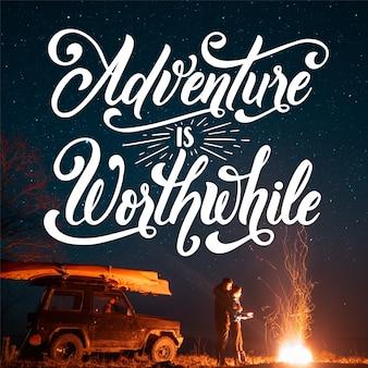 Concetto di lettere di avventura