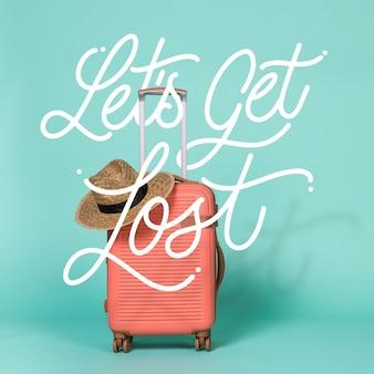 Concetto di lettere per viaggiare