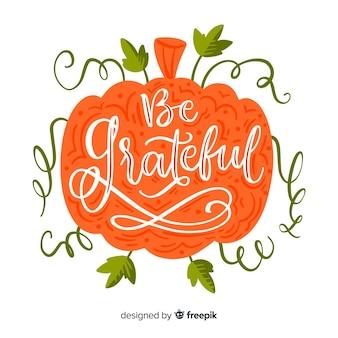 Concetto di lettering del giorno del ringraziamento