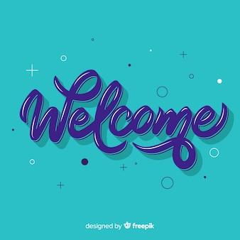 Concetto di lettering di benvenuto creativo