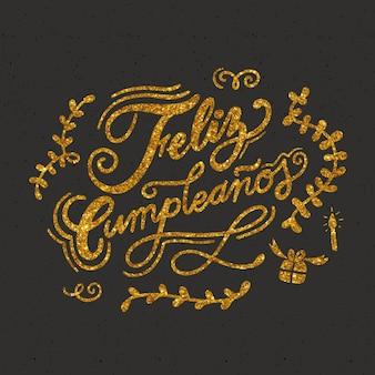 Concetto di lettering di buon compleanno