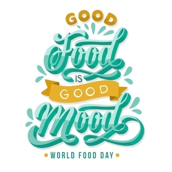 Concetto di lettering evento giornata mondiale dell'alimentazione