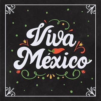 Concetto di lettering festa dell'indipendenza messicana