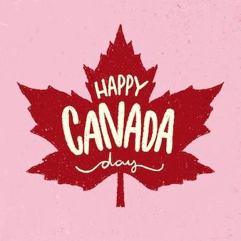 Concetto di lettering giorno del canada