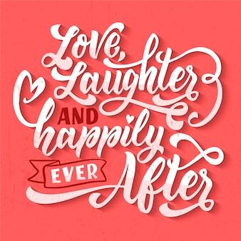 Concetto di lettering matrimonio carino
