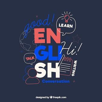 Concetto di lingue con design piatto