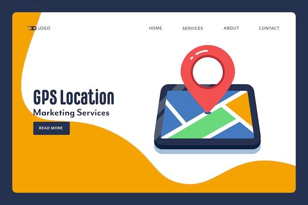 Concetto di localizzazione gps