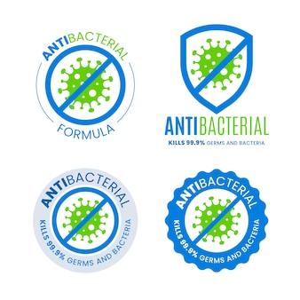 Concetto di logo antibatterico