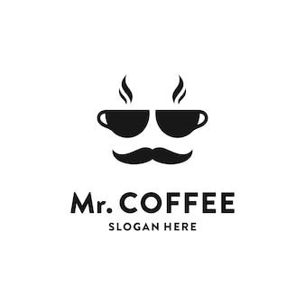 Concetto di logo creativo caffetteria