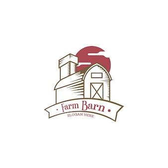 Concetto di logo del granaio