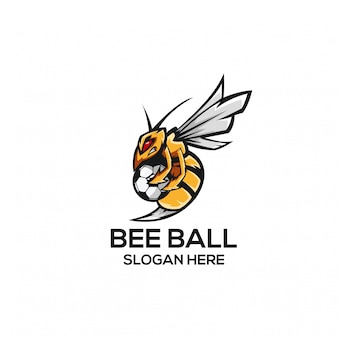Concetto di logo di bee ball