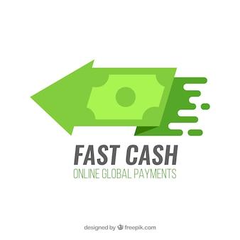 Concetto di logo di denaro moderno