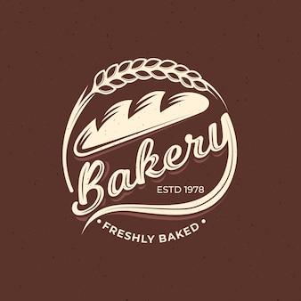 Concetto di logo di panetteria retrò