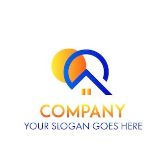 Concetto di logo di real estate della società di affari