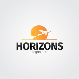 Concetto di logo di viaggio dettagliato