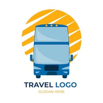 Concetto di logo di viaggio