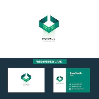 Concetto di logo vettoriale per la contabilità o società immobiliare