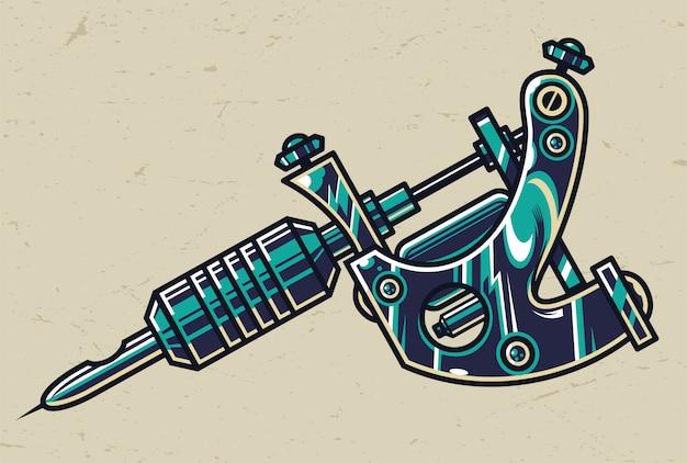 Concetto di macchina tatuaggio colorato