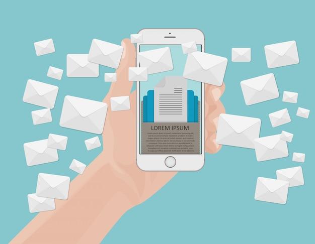 Concetto di marketing e-mail