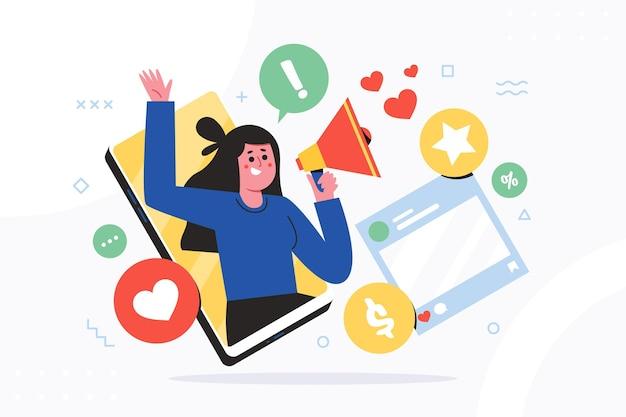 Concetto di marketing mobile