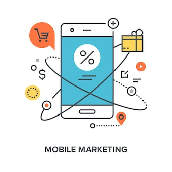 Concetto di marketing mobile