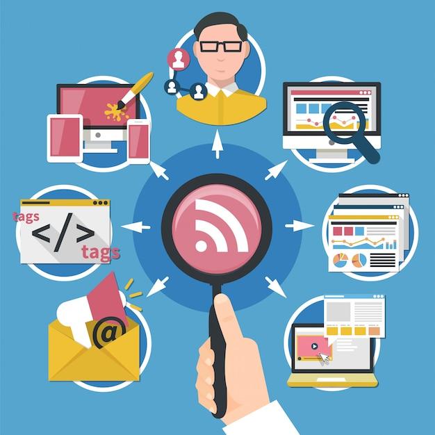 Concetto di marketing su internet
